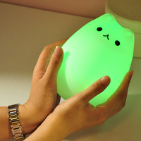 Colorful silicone animal light for baby soft led night light