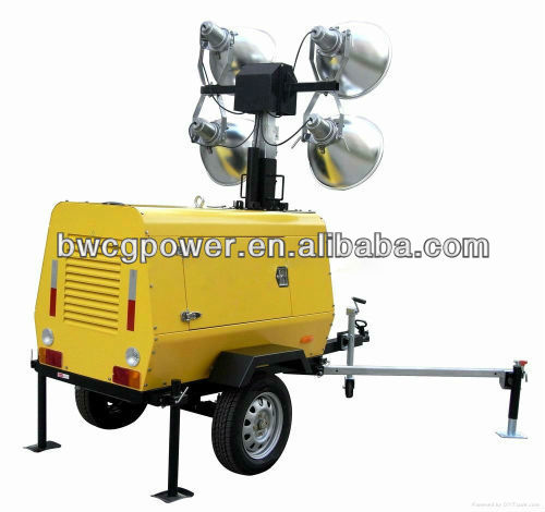 Industrial Mobile Diesel Generator Set power with yanmar lighting tower lights 6kw-50kw