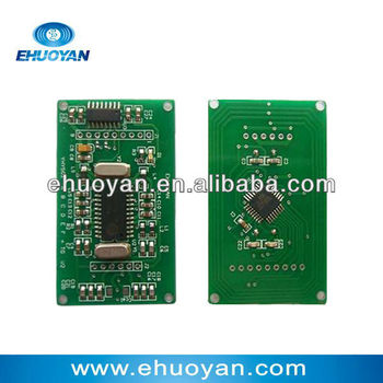 HF Module 14443 A/OEM Rfid Reader Writer module with integrated antenna RS232