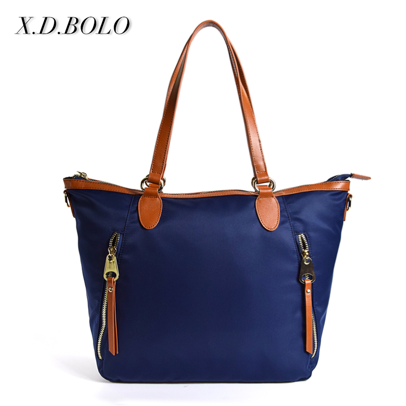 2017 Guangzhou New Fashion Genuine leather Shoulder Women Handbag / Tote Bag With Pockets