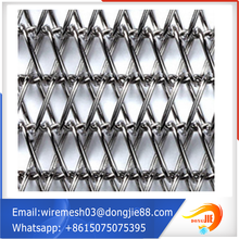 decorative metal drapery 316 metal decorative wire mesh customized