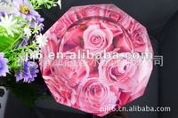Beautiful Round Crystal Cigar Ashtray with rose picture