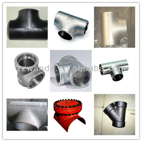 BG astm a234 wpb butt welding forged carbonsteel pipe tee / pipe fitting