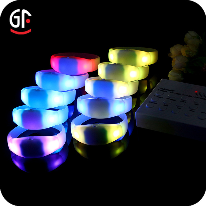 Chinese Supplier Radio Controlled Festival Silicone Rfid Wristband Led
