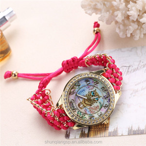 Wholesale Knitted Rope Student Vogue Leisure Quartz Watch