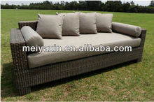 MYX12-590 PE Rattan summer 3 seaters love sofa seat