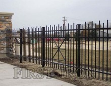 Rod picket wrought iron fence, commercial iron fencing