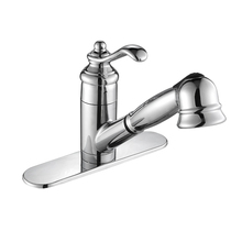 UPC Dynasty Metal Single Handle Kitchen Pull Out Kitchen Faucet Used In Kitchen Room