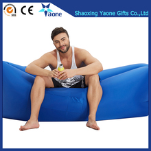 High Quality Summer Sleeping Bag Inflatable Lounger Nylon Colorful Air Sofa Beanbag Wholesale