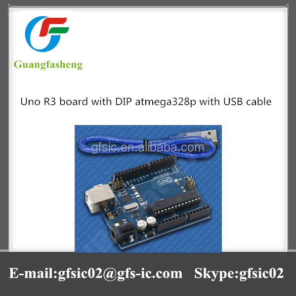 Best selling Uno R3 board with DIP atmega328p with USB cable