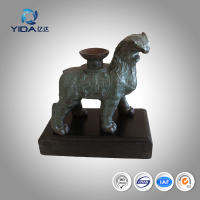 140x70x130 fine art deco bronze sculpture lion statues