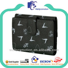 Wellpromotion pu leather 2-fold wallet for men