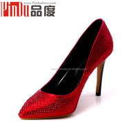Croc-embossed leather upper dress shoes and matching bags black sole woman dress shoes lady italian style dress shoes