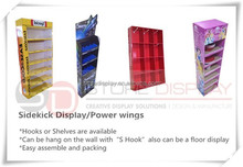 Point of purchase temporary shop display book racks