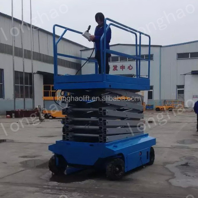 Longhao hydraulic electric auto scissor lift with china famous work platforms