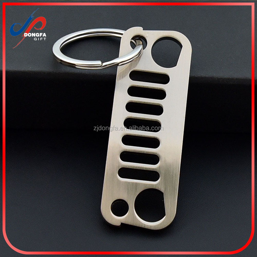 New Keychain Jeep Grill Key Chain Laser-Cut 304 Stainless Steel Merchandise