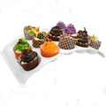 New Item Hot Selling Arch Shape Plastic PS 15pcs Cupcake Rack / Cupcake Stand