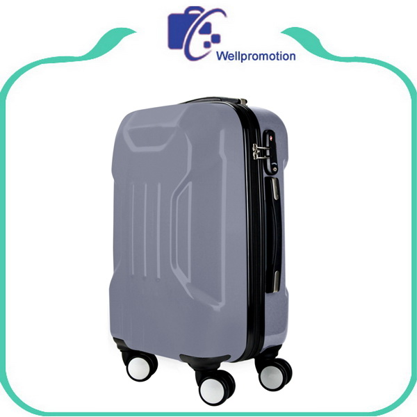 Gray abs pc travelling trolley luggage case/fashion pigger luggage upright