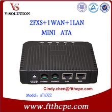 Hight quality 2FXS 2LAN mini voip device Mini VoIP Gateway voip phone adapter