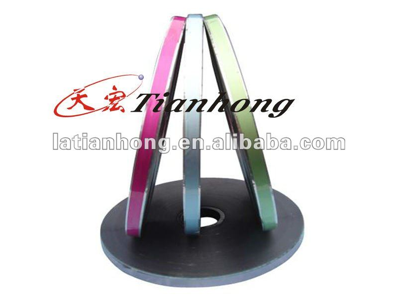 colored aluminium foil price mylar tube free edge wrapping tape AL PET jumbo roll
