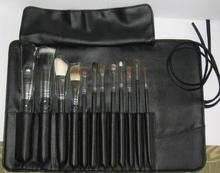 Private label makeup brushes 12pcs cosmetic bag,Black PU beauty case
