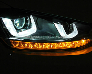 vw GOLF 7 R20 car head lamp/light with top quality