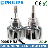 4 Colors Optional 3000lm 25W Replacing Halogen HID Factory Supply HB3 9005 LED Tractor Philips Head Bulb