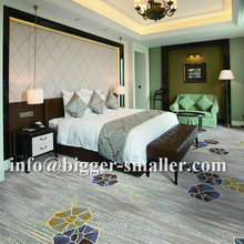 Manufacturer Supplied high density Axminster 80% wool 20% nylon carpet for hotel room