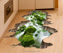 2017 New hot landscapes natural printing 3d floor stickers for wood tile wall decals