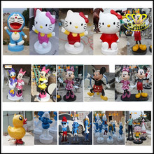 Hello Kitty/hello Kitty cartoon glass fiber reinforced plastic resin painted sculpture