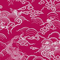 Detai Chinese character auspicious clouds and bamboo wall paper, China style home decoration