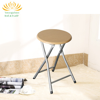 Good sale round folding wooden stool