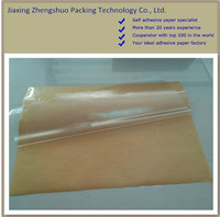 Waterproof adhesive transparent pet film with kraft release paper ,customized
