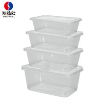 Multi size chinese food packaging boxes disposable food storage containers plastic fda approved food packaging boxes