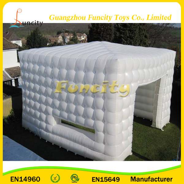 White Inflatable Cube Tent / Camping Tent Sale , Gaint Inflatable Tent Rental