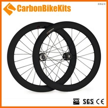 2016 CarbonBikeKits TW60C 700C fixed gear carbon wheel,60mm clincer fixed gear carbon spoke wheels