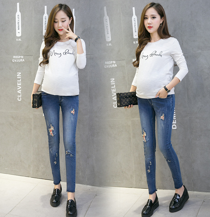 X84637A fashion spring/autumn new maternity pants Maternity Jeans maternity winter long pants
