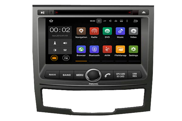 Android7.1 System Quad Core GPS Navigation CD/DVD Player Head Unit Radio Stereo Bluetooth WiFi for SSANGYONG KORANDO 2010-2016
