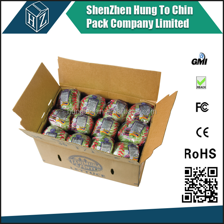 Wholesale lettuce packaging corrugated box