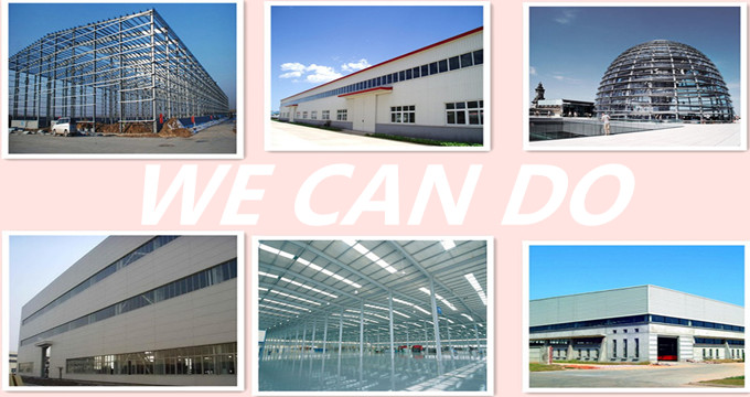 Concrete Moving Prefabricated steel structure frame warehouse factory
