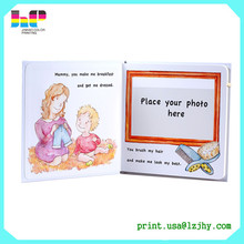 Factory printing beautiful baby design photo 8x12 self stick blank baby photo album