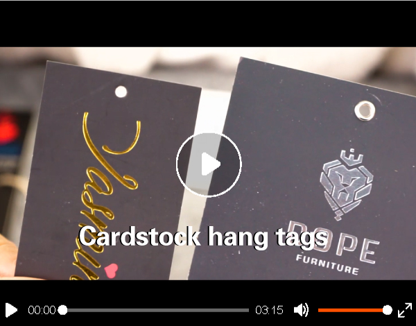 2019 cheap price cardstock hang tag for clothing by your logo