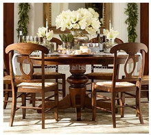 F40422A-1 Chinese antique recyle nature solid wood folding round dining table