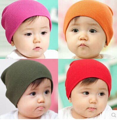 2014 winter toddler cotton knit beanie