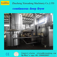 big capacity good quality new condintion automatic continuous deep fryer/frying machine
