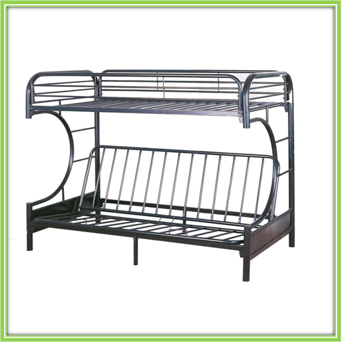 Cheap Metal Twin Over Futon Full Bunk Bed Black Buy Futon Bunk Bed Full Bunk Bed Black Metal