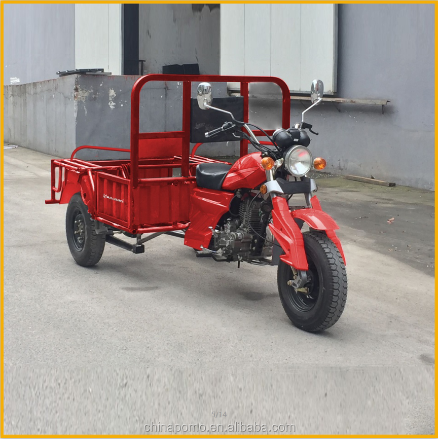 Made In China Popular three wheel motorcycle gasoline, electric cargo tricycle with cabin, electric adult trike