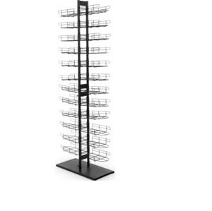 Metal Fitted Hat Rack Floor Standing baseball cap display rack