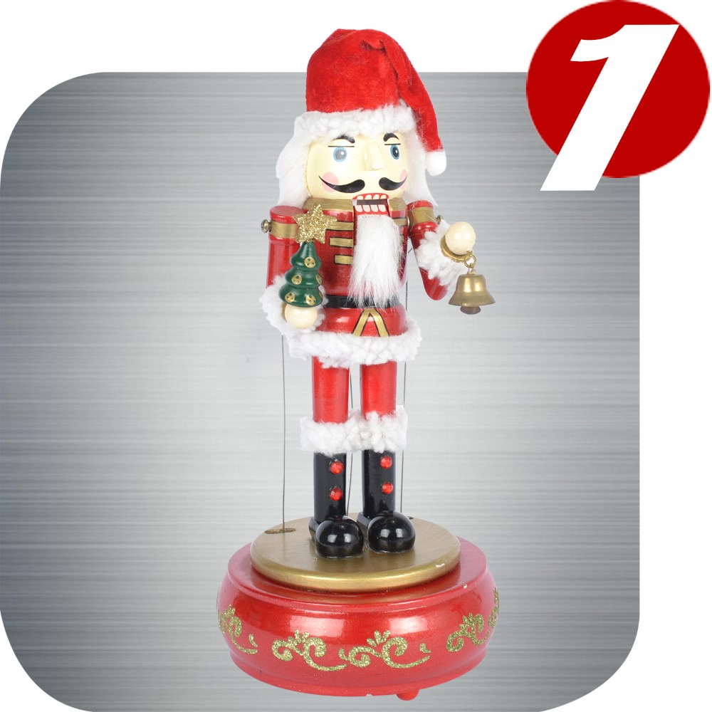 wooden soldier nutcracker christmas music box