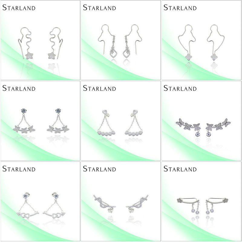 Starland Wholesale Hot Sell Cuckold Hot New Silver Earring Jewelry Wholesale China
